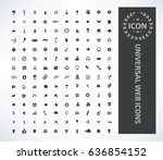 universal web icon set clean... | Shutterstock .eps vector #636854152
