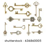 Collection Of  Old Key Isolate...