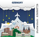 germany travel background... | Shutterstock .eps vector #636868726