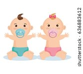 cute baby design | Shutterstock .eps vector #636883612