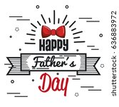 happy father day design | Shutterstock .eps vector #636883972