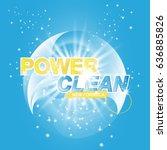 advertising banner of detergent.... | Shutterstock .eps vector #636885826