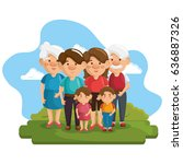 happy family design | Shutterstock .eps vector #636887326