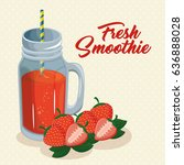 fruit smoothie icon | Shutterstock .eps vector #636888028