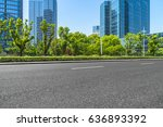 empty asphalt road front of... | Shutterstock . vector #636893392