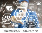 modern hospital   innovation... | Shutterstock . vector #636897472