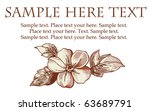 wedding marriage invitation.... | Shutterstock .eps vector #63689791