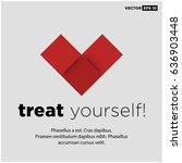 treat yourself  motivational...   Shutterstock .eps vector #636903448