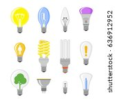 cartoon lamp light bulb design... | Shutterstock .eps vector #636912952