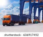 container discharging from the