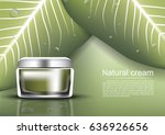 anti aging cream with wild... | Shutterstock .eps vector #636926656