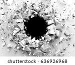 dark destruction cracked hole...   Shutterstock . vector #636926968
