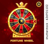 vector gold fortune wheel...