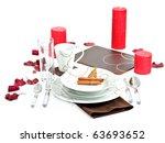 dinner set with christmas... | Shutterstock . vector #63693652