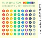 set of 63 mix flat icons and a... | Shutterstock .eps vector #636938272