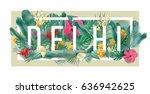 vector floral framed... | Shutterstock .eps vector #636942625