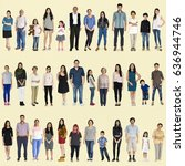 asian people full body set... | Shutterstock . vector #636944746