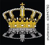 crown vector | Shutterstock .eps vector #636947782
