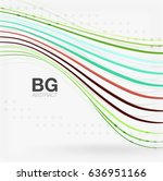 wave lines abstract background. ... | Shutterstock . vector #636951166