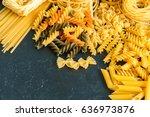 variety of types of italian... | Shutterstock . vector #636973876