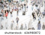 people crowd. background with... | Shutterstock . vector #636980872