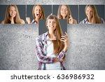 young european businesswoman... | Shutterstock . vector #636986932