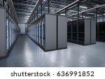 3d rendering server room or... | Shutterstock . vector #636991852