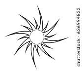 sun silhouette vector symbol... | Shutterstock .eps vector #636994822