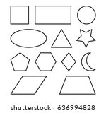 geometric shapes square  circle ... | Shutterstock .eps vector #636994828