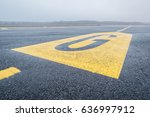 yellow marker with a letter g... | Shutterstock . vector #636997912