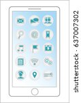 smartphone menu icons file | Shutterstock . vector #637007302