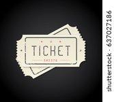 paper vintage tickets  vector... | Shutterstock .eps vector #637027186