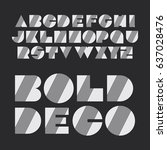 art deco font set   vintage...   Shutterstock .eps vector #637028476