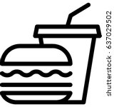 fast food vector icon | Shutterstock .eps vector #637029502