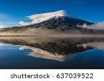 amazing cotopaxi volcano ...   Shutterstock . vector #637039522