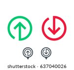 growth  decline icons with...