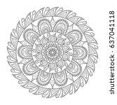 vector hand drawn doodle tribal ...   Shutterstock .eps vector #637041118