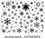 set of snowflakes  | Shutterstock .eps vector #637043092