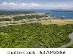 panoramic aerial view of gatun... | Shutterstock . vector #637043386