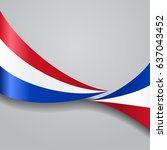 dutch flag wavy abstract... | Shutterstock .eps vector #637043452
