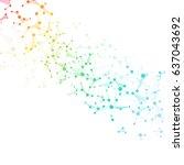 illustration structure molecule ... | Shutterstock . vector #637043692