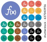 function multi colored flat... | Shutterstock .eps vector #637043956