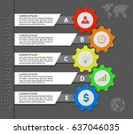 abstract colored gears... | Shutterstock .eps vector #637046035