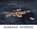 coal mining at an open pit | Shutterstock . vector #637050232