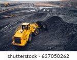 coal mining at an open pit | Shutterstock . vector #637050262