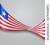 liberian flag wavy abstract... | Shutterstock .eps vector #637056892