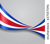 costa rican flag wavy abstract... | Shutterstock .eps vector #637057096