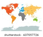 political map of world with... | Shutterstock .eps vector #637057726