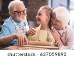 grandmother  grandfather and... | Shutterstock . vector #637059892