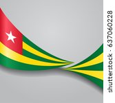 togo flag wavy abstract... | Shutterstock .eps vector #637060228